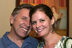 HAPPY LOVIN' COUPLE! :  My friends Steve Myrick and Jen Anthony make me sick. Blech! - PHOTO BY GLEN STARKEY