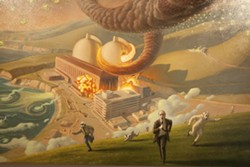MELTDOWN! :  Bryan taps into the cultural and political zeitgeist with Devil's Due, a depiction of the Diablo Canyon nuclear power plant in meltdown.