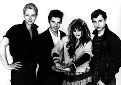 ORIGINAL LINE-UP!:  The four original members—(left to right) Billy Zoom, John Doe, Exene, and D.J. Bonebrake, show here in the early '80s—are back together. - PHOTO BY FRANK GARGANI