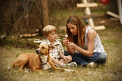HOW TO MAKE A WISH :  Mira Sorvino as Wendy Porter, with her son Joey (played by Maxwell Perry Cotton), whom she seeks to reclaim after giving him up for adoption in the heart-wrenching film, Like Dandelion Dust. - PHOTOS COURTESY OF DOWNES BROTHERS ENTERTAINMENT