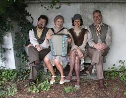 AH, PARIS! :  The incredible Baguette Quartette will perform la Musique de Paris circa the '20s through '40s on July 28 at Castoro Cellars. - PHOTO COURTESY OF BAGUETTE QUARTETTE