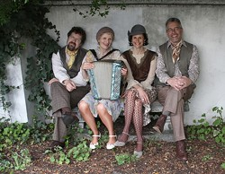 AH, PARIS! :  The incredible Baguette Quartette will perform la Musique de Paris circa the '20s through '40s on July 28 at Castoro Cellars. - PHOTO COURTESY OF BAGUETTE QUARTETTE