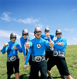 NERD-CORE! :  See the utterly awesome Aquabats on Dec. 11 at Downtown Brew. - PHOTO COURTESY OF THE AQUABATS