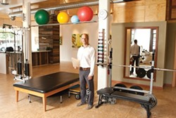 HELP A BODY OUT:  Paul Teixeira showcased his newly opened Body and Balance Center on Monterey Street in San Luis Obispo. The facility is open and bright, with an interior design done by Paul's wife. - PHOTO BY STEVE E. MILLER