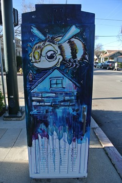 ALL THE BUZZ:  Many residents have defended Dippner's art in light of its criticism, saying it brings a creativity and originality to SLO that indeed does represent the city. - PHOTO BY MORGAN CHADWELL