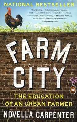 FARM CITY COVER :  As the author of Cuesta College's 2011 Book of the Year, Carpenter speaks on the Cuesta campus on April 6. Pictured is Farm City's cover artwork. - IMAGE COURTESY OF CUESTA COLLEGE