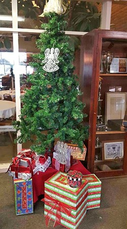 A STOLEN CHRISTMAS:  Someone stole about $1,000 worth of gifts from the San Luis Obispo Elks Lodge, which collected the gifts to give to homeless children and families who are not able to purchase gifts during the holiday season. - PHOTO COURTESY OF VIVIAN BOAZ