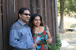 LXV:  Neeta and Kunal Meetal own LXV Winery, inspired by the sensual, ancient art of Kama Sutra. The winery recently released two new wines: Dark Romance, comprised of 100 percent Chenin Blanc, and Secret Craving, a blend of cab franc, syrah, and merlot. - PHOTO BY HAYLEY THOMAS