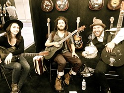 RESO-TASTIC!:  The Black Resonators, who play guitars made here in SLO, play Aug. 14, at Linnaea's Café. - PHOTO COURTESY OF THE BLACK RESONATORS