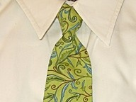 TUXANDTULLE :  Green and paisley style men's necktie, $22 - PHOTO COURTESY OF TUXANDTULLE