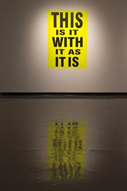 WHAT DOES IT ALL MEAN!?:  Gertrude Stein's 'Tender Buttons' was the inspiration for L.A. artist Eve Fowler's poster series, part of a current exhibit at the University Art Gallery. - PHOTO BY ANNA BOUCHARD