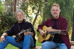 LEGENDS! :  Former Byrds and Flying Burrito Brothers member Chris Hillman (left) and his longtime collaborator Herb Pedersen return to the Central Coast next Nov. 7, for a benefit concert that will be recorded for a live CD at Edwards Barn. - PHOTO COURTESY OF CHRIS HILLMAN AND HERB PEDERSEN