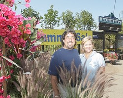 A COOLER SHADE OF GREEN :  Joel and Nanci Stern offer more than just flowers at the High Tide Nursery in Shell Beach. - PHOTO BY STEVE E. MILLER