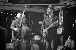 SUNDAY FUNDAY:  Morro Bay Americana duo The Turkey Buzzards will join a dozen other local and regional acts for Twang N Bang X kicking off this Sunday, Sept. 6, from 2 p.m. to 2 a.m. The mix of rock, country, and everything in-between will roll on all day long at Frog and Peach Pub. - PHOTO COURTESY OF TURKEY BUZZARDS