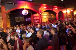 GAWKER'S DELIGHT :  SLO Brew was packed full of men and women of all ages for the entire show. - PHOTOS BY STEVE E. MILLER