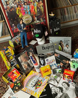 TIMELESS :  Beatles music and memorabilia make excellent gifts for people of all ages—yes, even teens. Check Boo Boo Records in downtown SLO for Christmas cheer with a Liverpool flair. - PHOTO BY STEVE E. MILLER