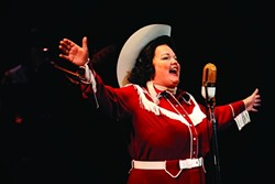 SING IT, PATSY!:  Kitty Balay, pictured, belts her heart out in Always … Patsy Cline, reprising her role as the beloved country singer. - PHOTO BY LUIS ESCOBAR/REFLECTIONS PHOTOGRAPHY STUDIO