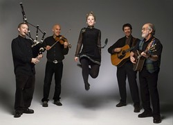 JUMPING FOR JOY :  Acclaimed Celtic band Molly's Revenge joins vocalist Moira Smiley and the Rosemary Turco Irish dancers for the Celtic Christmas Celebration on Dec. 23 at the Los Osos Community Center. - PHOTO COURTESY OF MOLLY'S REVENGE
