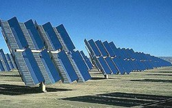 THE WAY IT WAS :  This is part of the ARCO solar facility as seen in 1984. Ausra's solar facility will be built across a gravel road from the site of ARCO's now-demolished photovoltaic plant, but the new facility's unique technology is entirely different.