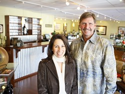 WINE :  Sheri and Craig Wood pair art and wine in their new Wood Winery tasting room and gallery in Arroyo Grande. - PHOTO BY STEVE E. MILLER