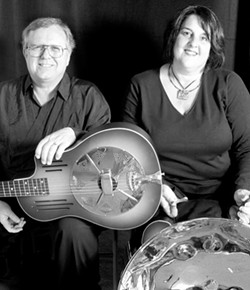 THEY LOOK SO NORMAL :  Weird composer Garry Eister will be joined by steel drummer Patty Dee on Aug. 31 at the Steynberg Gallery for an evening of original guitar and steel drum compositions. - PHOTO COURTESY OF GARRY EISTER