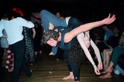 HOLY ROLLERS :  Spirits lift and bodies (nearly) collide at Dance Church, where weekly waves of ecstatic free-form movement wash through SLO every Sunday night at the Yoga Centre. - PHOTO COURTESY OF PHILIP NOVOTNY