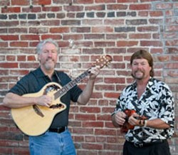 COME CLOSER CLOSER :  Okay, that's close enough. Any closer and you'd be Over the Edge, a band that plays everything from blues to bluegrass to jazz to country. See them on June 1 Coalesce Bookstore and June 2 at Green Acres Lavender Farm. - PHOTO COURTESY OF OVER THE EDGE