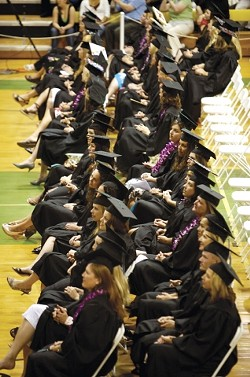 A QUESTION OF CAPACITY :  Cuesta College graduated its largest class of registered nurses in May. But even with 50 new nurses added to the workforce, health care settings still need more. - PHOTO BY JESSE ACOSTA