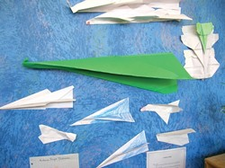 LEARNING TAKES FLIGHT :  One students interest in paper airplanes inspired a project that ultimately incorporated creation, experimentation, and documentation. - PHOTO BY RYAN MILLER