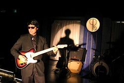 """CRYING OVER YOU:  Mike Kee stars as operatic rock'n'roll music icon Roy Orbison, in the SLO Little Theatre's new musical tribute """"Orbison: Only the Lonely,� playing weekends through March 25th. - PHOTOS BY CHRISTOPHER GARDNER"""