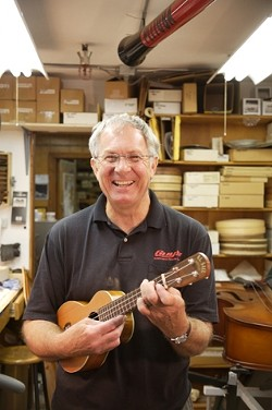 RON SAUL UKULELES:  870 Capitolio Way, No. 6, SLO - 549-8530 (call for an appointment) - PHOTO BY JESSE ACOSTA