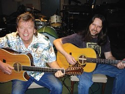 MUSIC MEN :  Don Lampson (left), Eric Brittain (right), and Charlie Kleeman (not pictured) will join forces Feb. 1 to play The Porch Cafe in Santa Margarita. - PHOTO COURTESY OF DON LAMPSON AND ERIC BRITTAIN