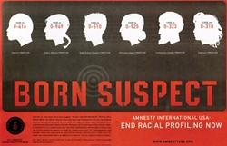 BORN SUSPECT :  This piece was created by Tom Sieu and John Givens in 2003, for their client, Amnesty International. - IMAGE BY TOM SIEU