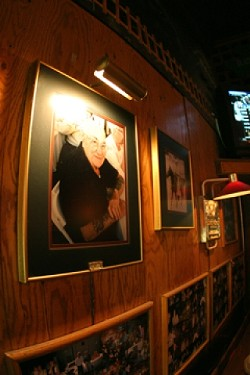THE MCCARTHY ERA:  Joe McCarthy started the Gold Room in the early 1950s, which eventually became McCarthy's. Here a photo of the founder remains at McCarthy's. - PHOTO BY CHRISTOPHER GARDNER