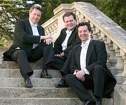 STARS OF THE EMERALD ISLE :  The much-loved Irish Tenors return to the Performing Arts Center in SLO for a nearly-sold-out holiday concert on Dec. 19. - PHOTO COURTESY OF THE IRISH TENORS