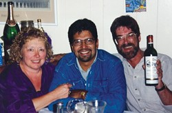 THE FAB THREE :  Bev Johnson, Alex Zuniga, and Steve Moss started New Times with a Swazey Street apartment, a handful of contributors, and a lot of elbow grease in 1986.