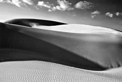 """PISMO DUNES #2� THIRD PLACE LAND/SEASCAPE BW: - CRIS MITCHELL"
