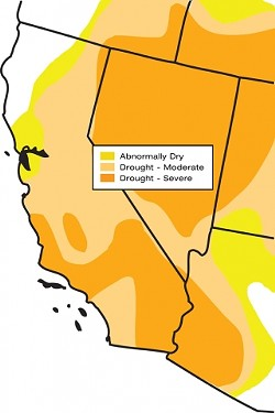 THE CURRENT DROUGHT :  All of the Central Coast currently is in a drought, ranging from moderate to severe, as is most of California, according to the Jan. 22 edition of the U.S. Drought Monitor. The monitor is compiled with data from the National Oceanic and Atmospheric Administration (NOAA) and several other federal agencies. For a weekly update, visit www.drought.unl.edu/DM/monitor.html.