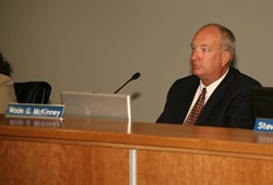 GONE QUIET :  City Manager Wade McKinney refuses to return phone calls regarding - allegations that he was behind threats of eminent domain. - PHOTO BY JESSE ACOSTA