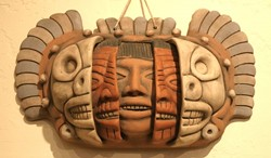 TIME LINE MASK:  This Mexican Time Line mask depicts youth, old age, and death - GLEN STARKEY