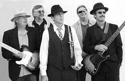 HAPPY BLUES :  The SLO Blues Society has put together quite a lineup for the Arroyo Grande Village Summer Concert on Sunday, July 29, including Blues DeVille (pictured), the Al and Val Duo, and Jud Davidson. - PHOTO COURTESY OF CURTIS REINHARDT