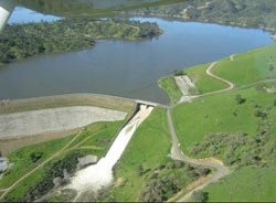 DAM ISSUE :  Lake Nacimiento and its pipeline are pieces of a battle brewing over potential water rate hikes in San Luis Obispo. One man mounted a mass mailing campaign in opposition to proposed rising utility fees, up for a city council vote on June 19. - PHOTO COURTESY OF SAN LUIS OBISPO COUNTY PUBLIC WORKS