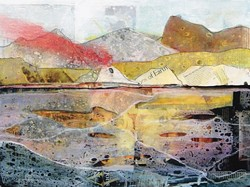 """COME UP FOR AIR :  """"Surfacing"""" is Sarah Winkler's latest collection of mixed-media paintings, exploring both inner and outer landscapes. River Rust at Moab is pictured. - IMAGE COURTESY OF SARAH WINKLER"""