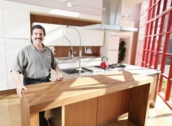 COUNTER CULTURE :  Richard Jess recently opened a SieMatic showroom in San Luis Obispo, bringing luxury kitchen concepts to locals. - PHOTO BY STEVE E. MILLER