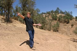 SERVING THE PUBLIC GOOD?:  Jim Andre does not understand why SLO County is claiming eminent domain on his section of Nacimiento Shores Road - which his father established and named in the 1950s - for access to the proposed Oak Shores subdivision. - CHRISTOPHER GARDNER
