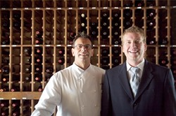 FOOD AND WINE PAIR :  Calago co-owners David Wohrle (left) and Ron Hahn (right) are cooking up a new look and taste for their downtown eatery. - PH0TO BY JESSE ACOSTA