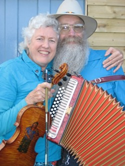 TASTY CAJUN DELIGHTS :  The music of the American Southwest, from Louisiana to Arizona, makes up the repertoire of Bayou Seco. The duo performs Dec. 15 at the Red Barn in Los Osos. - PHOTO COURTESY OF BAYOU SECO