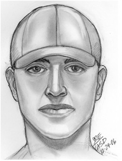 HAVE YOU SEEN THIS MAN? :  The San Luis Obispo Police Department released this suspect sketch after a string of rapes began in San Luis Obispo last year. A recent attack bears some similarities to the 2006 incidents, but officers are hesitant to link them. - IMAGE COURTESY OF THE SAN LUIS OBISPO POLICE DEPARTMENT