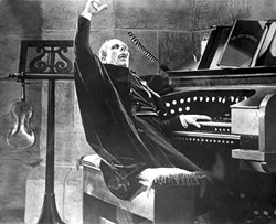 SETTING THE BAR FOR CREEPY :  Lon Chaney is the phantom in the 1925 film version of Phantom of the Opera. - PHOTO COURTESY OF SLOIFF
