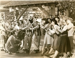"""THE SIREN CALL OF THE SILVER SCREEN :  The Mercer Brothers danced in the film Youth on Parade to """"It Seems I have Heard that Song Before."""" - PHOTO COURTESY OF BUD MERCER"""